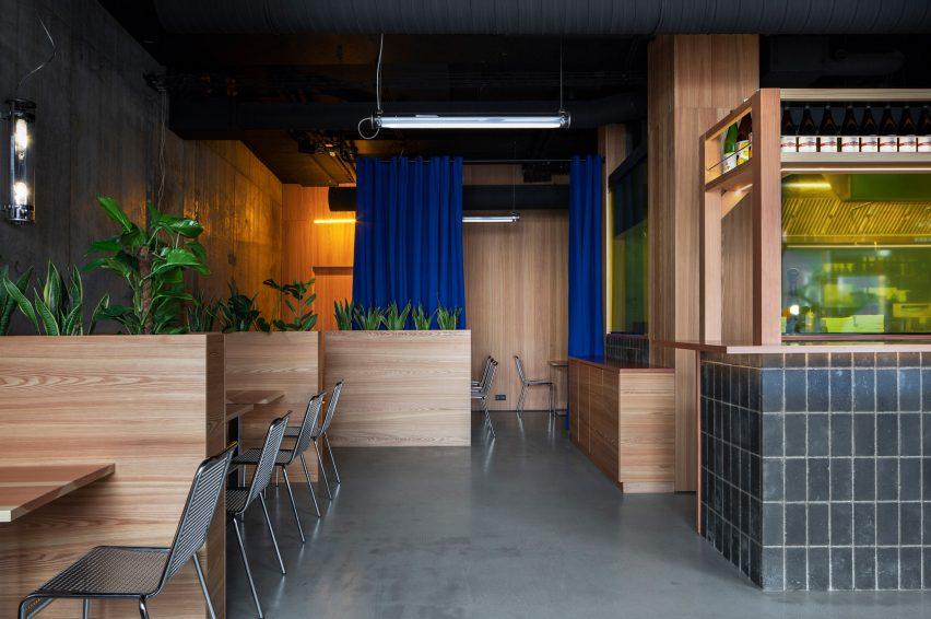 Yuzu burger restaurant by HAF Studio in Reykjavík