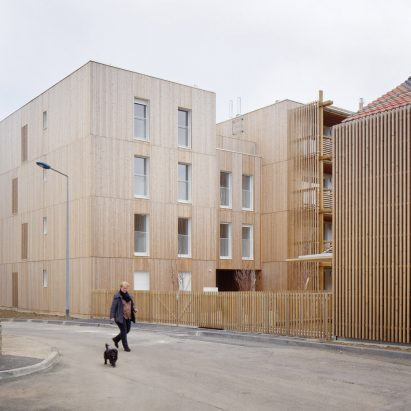 Odile Guzy Architectes' social housing scheme in Chalon-sur-Saône, France. Photo is by David Foessel