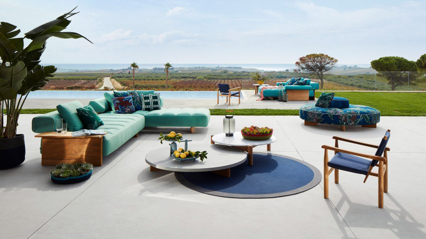 Cassina outdoor furniture designed as