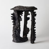 Fictive Erosion furniture uses sand casting to mimic natural rock formation process