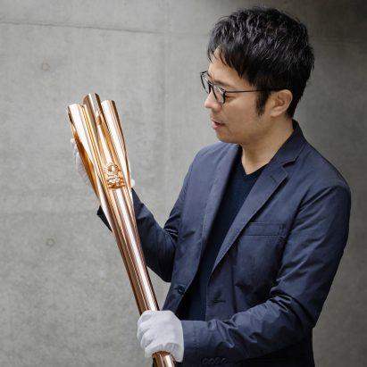 Tokyo 2020 Olympics torch by Tokujin Yoshioka