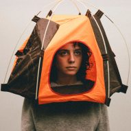 Alternative Coronavirus masks by Max Siedentopf with tent