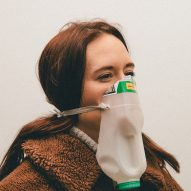 Alternative Coronavirus masks by Max Siedentopf with milk bottle
