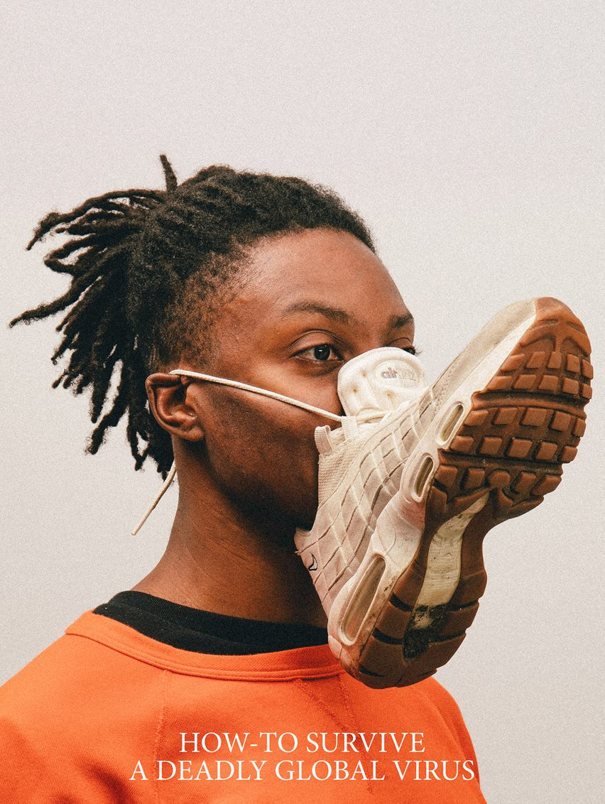 Alternative Coronavirus masks by Max Siedentopf with sneaker