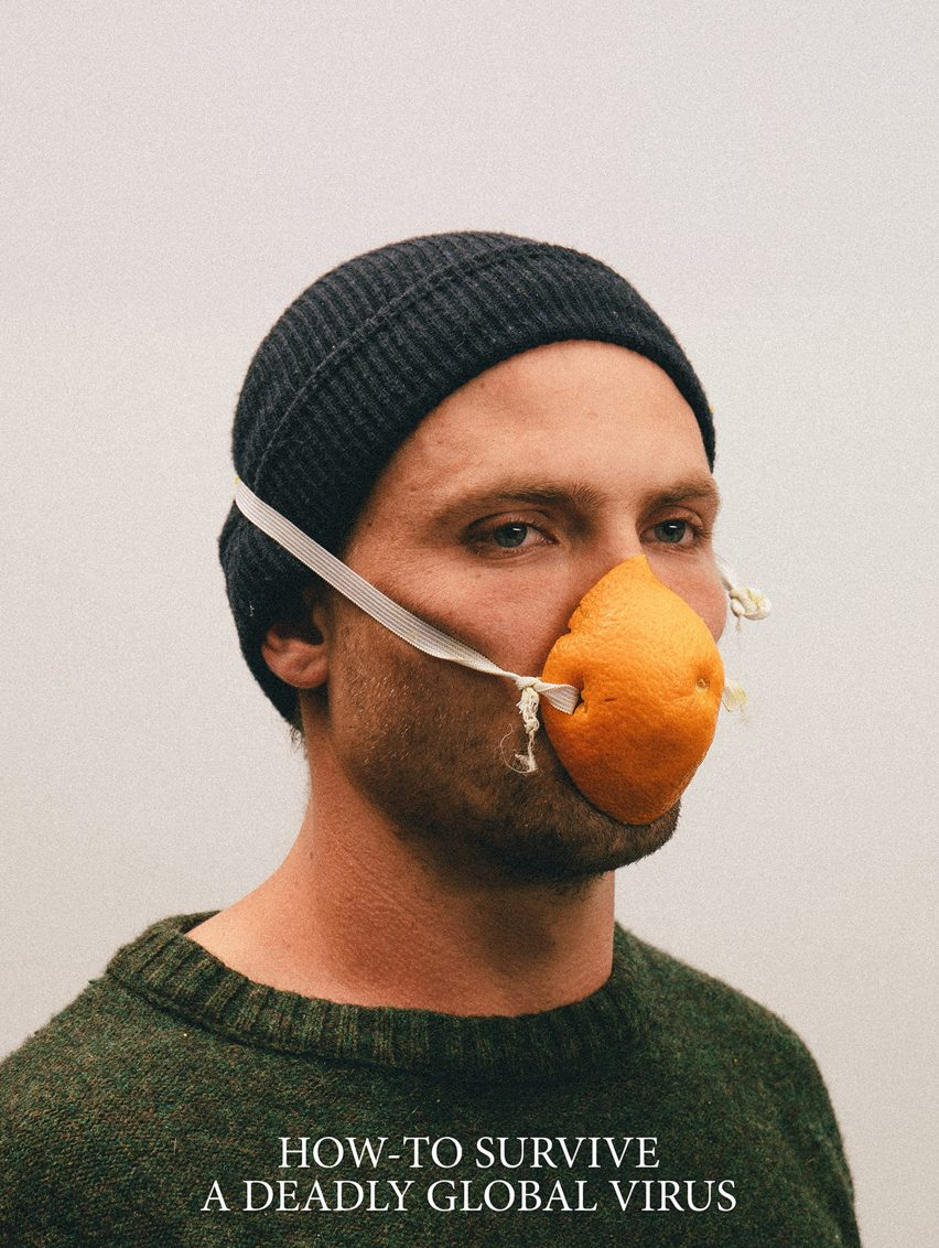 Alternative Coronavirus masks by Max Siedentopf with orange peel