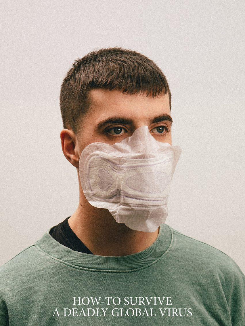 Alternative Coronavirus masks by Max Siedentopf with sanitary pad