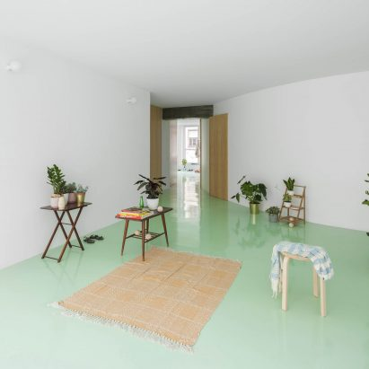 Apartment on a Mint Floor by Fala Atelier living room