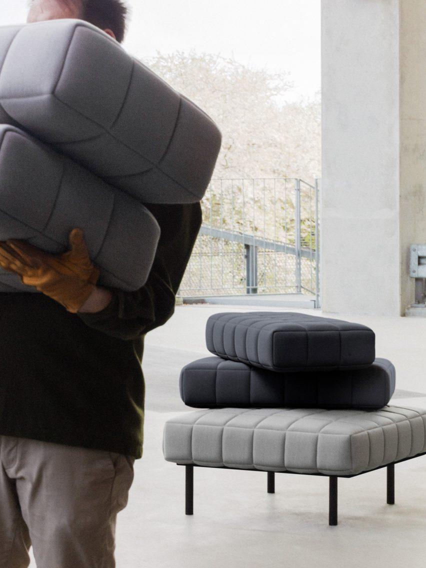 Bjarke Ingels Group designs pixel-like modular sofa for Common Seating