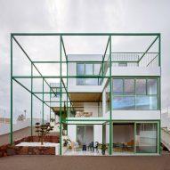 Space Popular's Brick Vault House slots into slender green grid