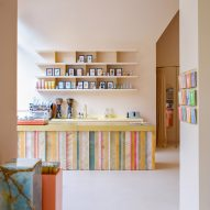 Anne Claus Interiors puts candy-striped onyx bar inside &C's Amsterdam office