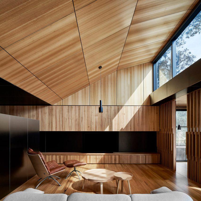 Branch Studio Architects uses skylights to bring light into Australian island house