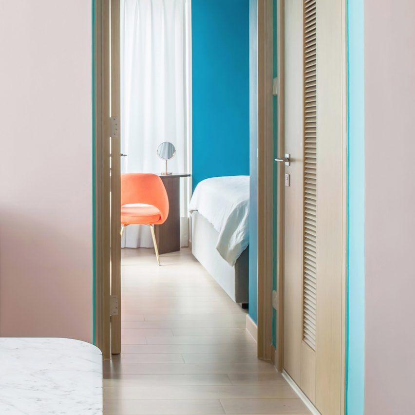 Colourful apartments roundup: