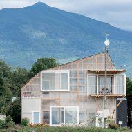 Yoshichika Takagi adds translucent facade to asymmetric house in Hokkaido