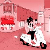 Milan design week 2020 events guide illustration by Rima Sabina Aouf