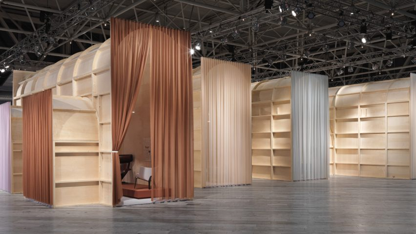 London design duo Doshi Levien built a series of interconnected spaces filled with scaled-up versions of the models made in its studio for this year's Stockholm Furniture & Light Fair.