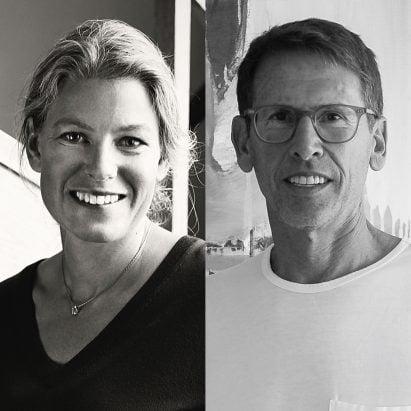 Designer Emma Olbers and Emeco CEO Gregg Buchbinder