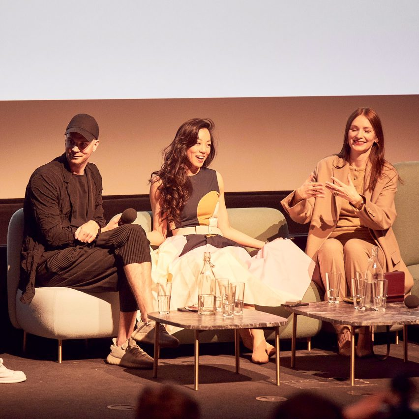 Watch the video of the discussion on how to be an entrepreneur at Dezeen Day