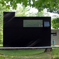 O'Neill McVoy Architects creates black Double Square Studio in Connecticut for a sculptor