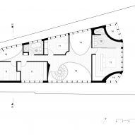Glebe House by Chenchow Little Architects first floor plan