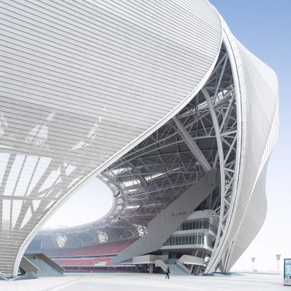 Hangzhou Olympic Sports Center by NBBJ in China