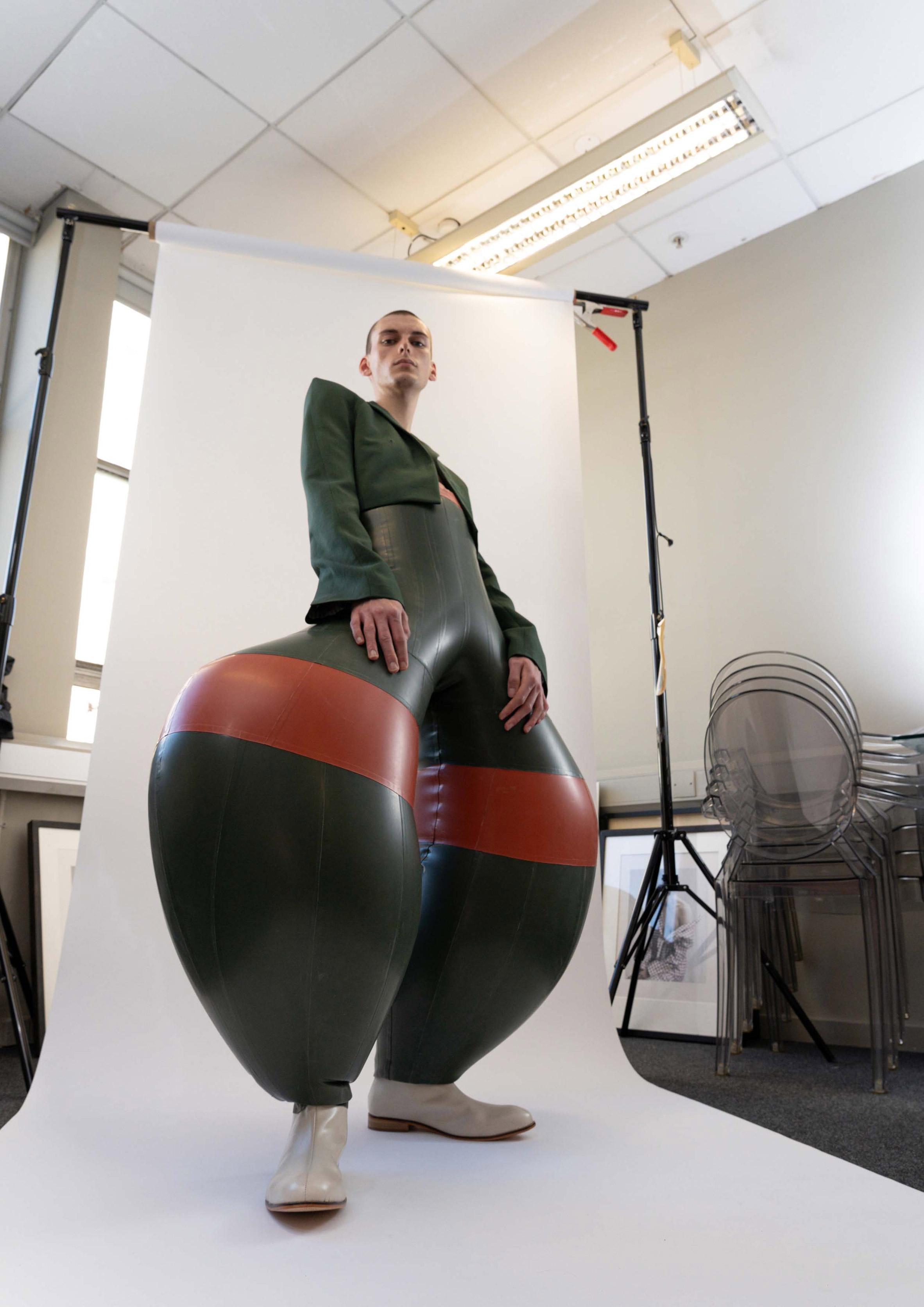 Harikrishnan's graduate collection of latex trousers