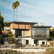 Hollywood Hills House by Kristen Becker steps down a steep Los Angeles hillside