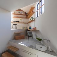 House in Takatsuki by Tato Architects has 16 different floor levels