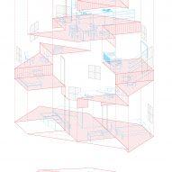 House in Takatsuki by Tato Architects axonometric