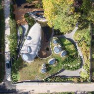 House in Russia hidden beneath artificial green hill