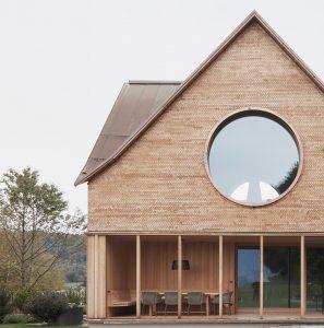 House with Three Eyes by Innauer-Matt Architekten gable