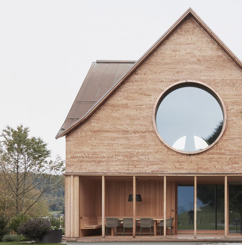 House with Three Eyes by Innauer-Matt Architekten gable