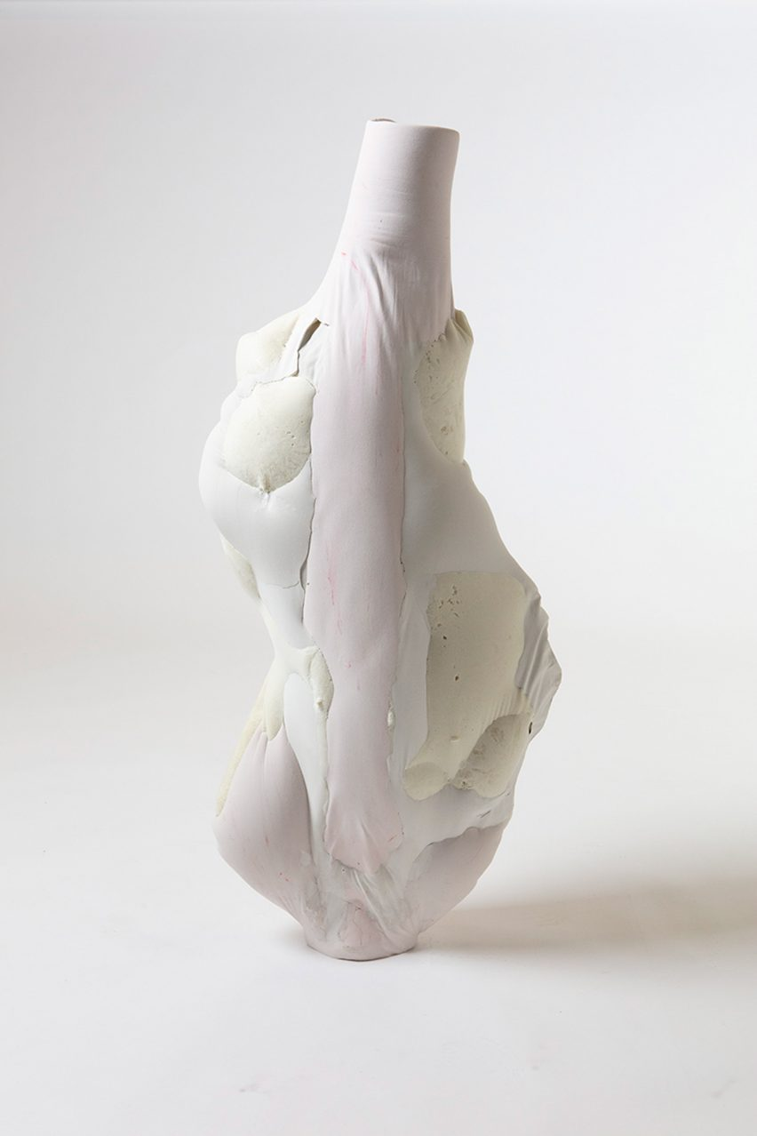 "Julia Olanders makes ""toxic"" vases from insulation foam and concrete"