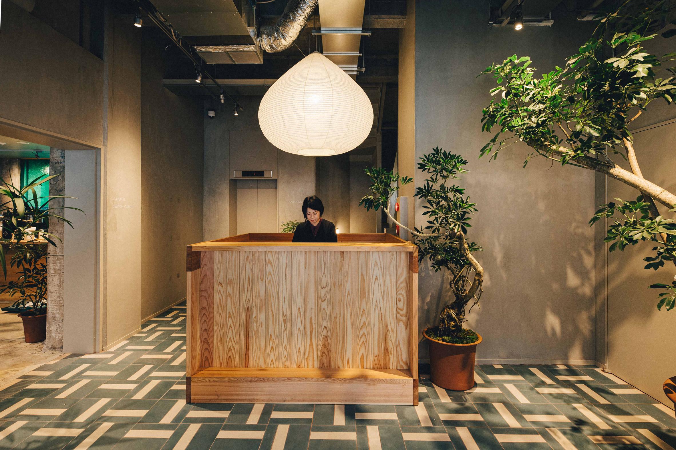 K5 Tokyo hotel by Claesson Koivisto Rune reception