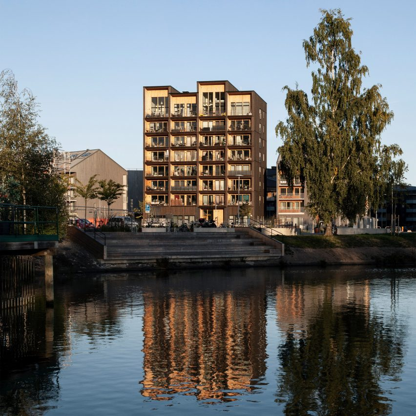 This week, Sweden's tallest timber building was revealed