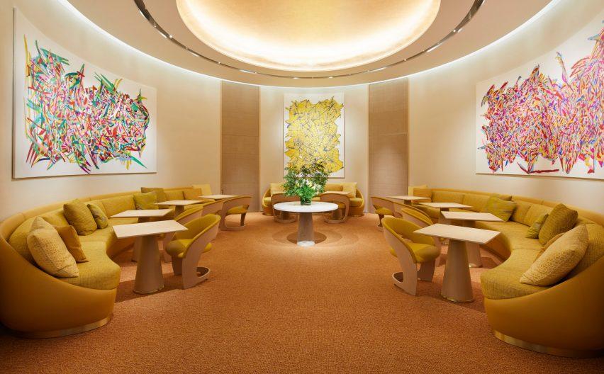 Le Cafe V inside Louis Vuitton's Osaka Midosuji store