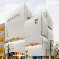 Louis Vuitton's flagship Osaka store covered in curving glass sails