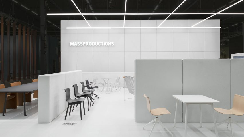 Massproductions' fair stand uses grid structure to guarantee easy re-use