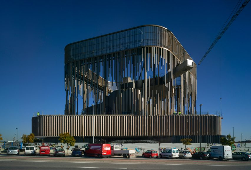 Longest overhanging swimming pool in Europe at Odiseo casino in Murcia, Spain, by Clavel Arquitectos