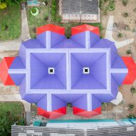 Pareid creates brightly coloured water-harvesting classroom in Thailand