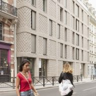 Avenier Cornejo designs Parisian apartment block with patterned brick facade