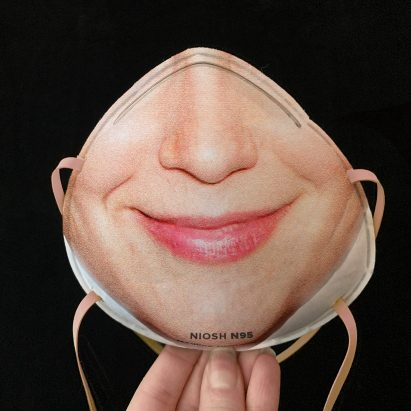 Face-recognition respirator masks by Resting Risk Face