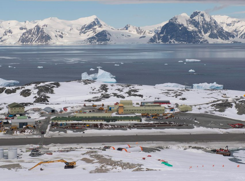 Discovery Building Antarctic research centre at the British Antarctic Survey's Rothera Research Station by London-based Hugh Broughton Architects