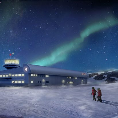 Discovery Building at the British Antarctic Survey's Rothera Research Station by London-based Hugh Broughton Architects.