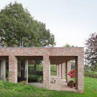 Studio Okami Architecten hides Sloped Villa in a Belgian hillside