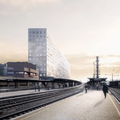 SNCB Headquarters by OMA in Belgium