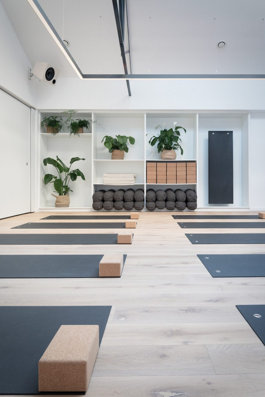 The Space Between yoga studio by Jordan Ralph Design