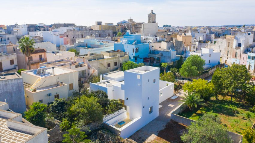 Architect Designs Own House With White Tower In Puglia
