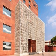SpaceMatters uses red and white sandstone for medical college in Agroha