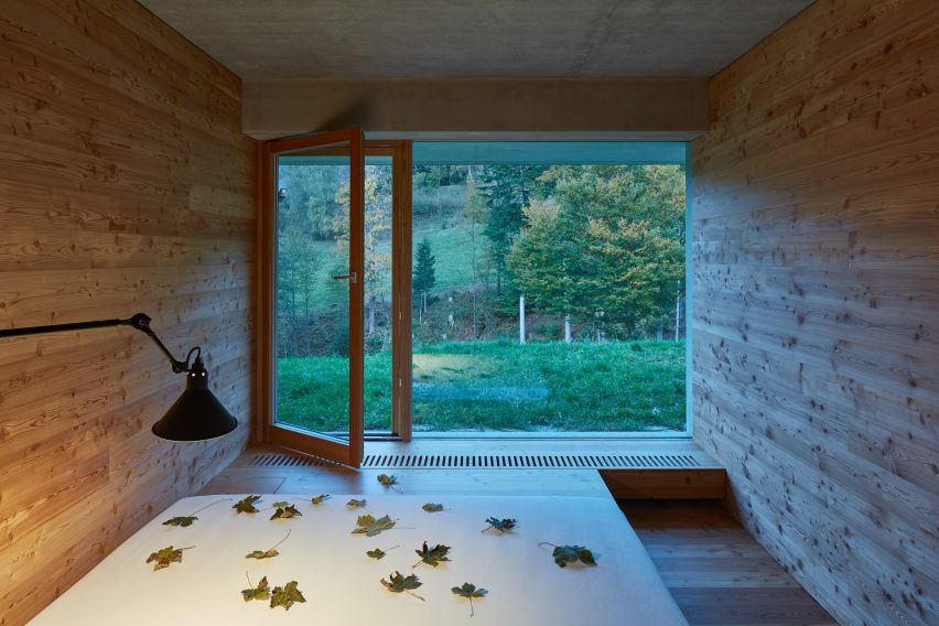 Weekend House in Beskydy by Pavel Míček Architects bedroom