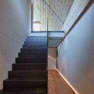 Weekend House in Beskydy by Pavel Míček Architects staircase